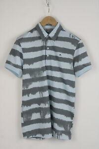 J.LINDEBERG FIELDSENSOR Men's SMALL Short Sleeve Striped Polo T-Shirt 26239_JS