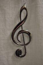 Silver Treble Clef Music Note Ornament Music Note Tree Ornament