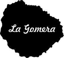 "2x Auto Adesivo ""La Gomera"" Spagna Spain 2x Sticker Spanish Island 11cm decal"