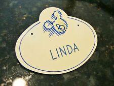 1991 Walt Disney World Authentic Name Badge 20 Years Celebration LOGO Pin Back