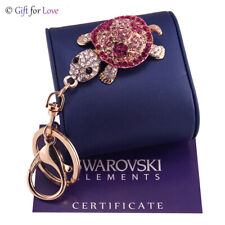 Portachiavi oro donna Swarovski Elements originale G4Love cristalli tartaruga