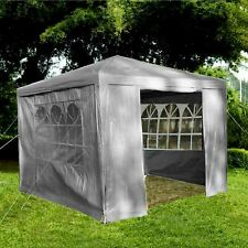 Gr8 Garden Grey Gazebo Marquee Awning Beach Party Camping Tent Canopy 3 x 3m