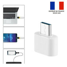 ADAPTATEUR USB 3.0 VERS USB TYPE-C / OTG / ON-THE-GO / BLANC/ NEUF