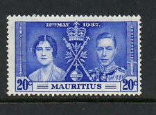 Mauritius 1937 Coronation 20c line through sword SG251a unmounted mint stamp