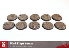 Mud Flaps 10 x 32mm round resin bases