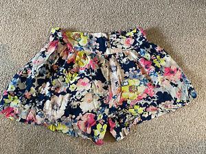 Women's Next Size 10 Skorts Summer Floral Pull-on Shorts/ Skirt