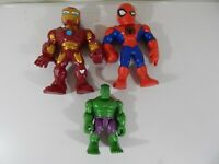 """Lot of 3 Marvel Action Figures 10""""/6.5"""" Includes Iron Man, Hulk, Spider-Man"""