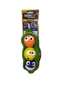 Multipet - Peas In A Pod- Latex Squeaky Dog Toy