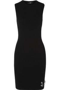 NWT Versus Versace Womens Embellished Knit Mini Dress Size 38 IT 2 US AUTHENTIC