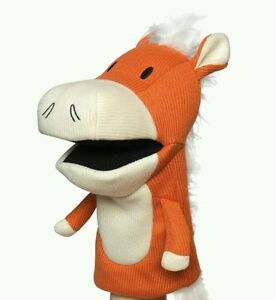 New Manhattan Toy Company Knit  Hand Puppet - Hoofly The Cow Daycare School Toy