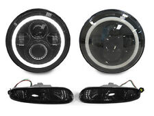 90-97 Mazda Miata MX5 MX-5 H6024 Full LED Headlight + Smoke Bumper Signal Lights