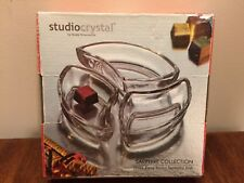 STUDIO CRYSTAL3 Piece Round Sectional Dish Glass