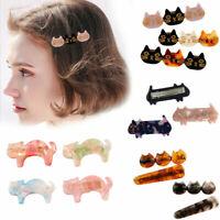 Women Girls Acrylic Hair Clip Gold Hairpin Slide Grips Barrette Hair Accessories