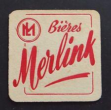 Ancien sous-bock bières MERLINK bier Bierdeckel coaster 1