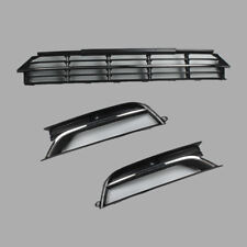 Front Bumper Lower Radiator Grille + Foglight Grill Cover Fit VW Passat B7 12-15