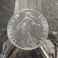CIRCULATED 1974 1/2 FRANC FRENCH COIN (101718)2.....FREE DOMESTIC SHIPPING