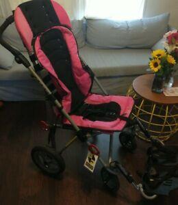 Convaid EZ Rider 16 Stroller Wheelchair Special Needs Magenta 170 lbs