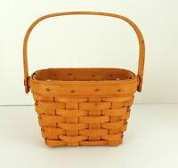 LONGABERGER American Cancer Society Basket '97 Wood Handle Handmade Ohio Liner