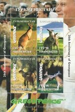 26th ANNIVERSARY OF GREENPEACE KANGAROO MARSUPIAL ANIMAL MNH STAMP SHEETLET