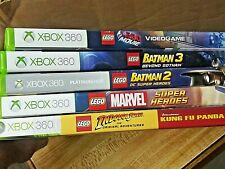 Lego Video Game Lot Xbox 360 - Batman 2 & 3, Marvel, Lego Movie, Indiana Jones +