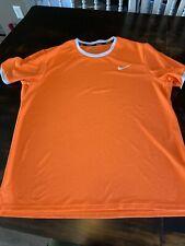 Nike Tennis Challenge Court Men's Size Xl Crew T Shirt Orange