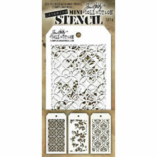 Tim Holtz Layering Stencils Duo Pack ~ Burlap /& Bubbles!!!