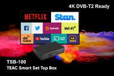 TEAC TSB100 DVB-T2 H.265 4K Android 7.0 Set Top Box USB PVR Stan Netflix YouTube