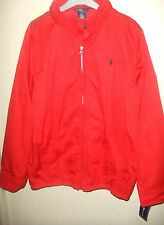 BLOUSON COUPE VENT POLO BY RALPH LAUREN TAILLE XL JUNIOR ROUGE