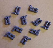 10 Lego Pistolen Doppelläufig Pistole Waffen grau Neu