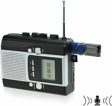Portable Radio Cassette Player Recorder, Cassette Tape to Mp3 Converter