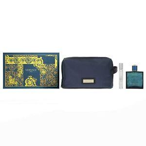 Versace Eros by Versace Gift Set -- 3.4 oz Eau De Toilette Spray + 0.3 oz Mini