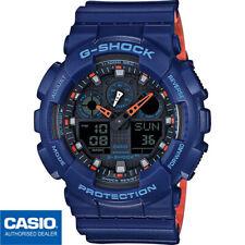 CASIO G-SHOCK GA-100L-2AER⎪GA-100L-2A⎪ORIGINAL⎪ENVIO CERTIFICADO⎪AZUL⎪NARANJA⎪XL