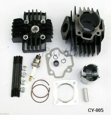 Yamaha PW50 81-09 QT50 79-87 60cc Big BoreCylinder Head Piston Assembly Kit 44mm