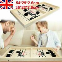 Large Family Game Wooden Fast Hockey Sling Puck Table Game Interactive Toy Gifts