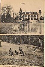 10719 AK Krieblowitz b. Canth Breslau Schloß und Forst mit Känguruh Krobielowice