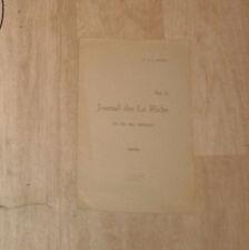MERLE Louis. Sur le Journal des Le Riche et sur ses auteurs. Deux-Sèvres.