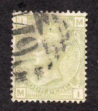 QV 1877 SG 153 -- 4d Sage Green placa 15 (M I) Luz PMK mostrando buena Perfil.