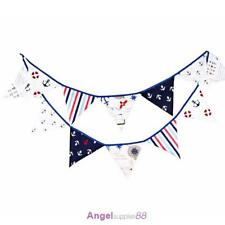 12 Flags 3.2m Pirate Theme Cotton Fabric Bunting Pennant Flags
