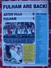 Fulham 1 Aston Villa 0 - 2018 Championship play-off final - souvenir print