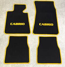 Autoteppiche Fußmatten für BMW E30 / 3er Cabrio schwarz-gelb Neuware 4teilig