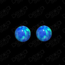 925 Sterling Silver Opal Ball Stud Earrings Studs Girls Women Children 5 mm