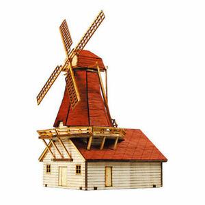 YoungModeler Netherlands Dutch Windmill Desktop Wooden Model Kit
