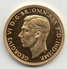 More details for 1937 gold proof five pound £5 coin great britain king george vi - very rare
