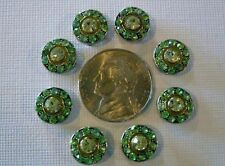 2 Hole Slider Beads Crystal Circles Green Made With Swarovski Elements #8