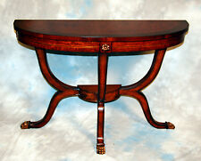 Louis XVI Burl Ash half circle Demilune Console Table Sofa Table Accent Table