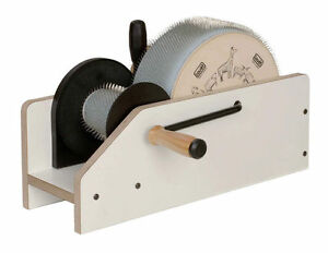 Kardiermaschine Louet Junior 10 cm Trommelkarde kardieren Wolle Spinnrad spinnen