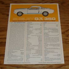 1966 Ford Shelby GT 350 Sales Brochure Sheet 66