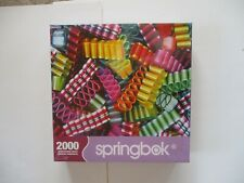 Complete (Sealed) 2000 Piece Springbok Puzzle.  Christmas Ribbon Hard Candy.