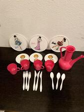 Vintage Barbie 1962 Worcester Rare Child's Size Plastic Tea Set 20 pieces
