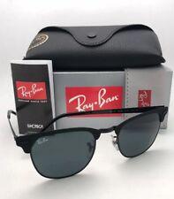 a53db6b3192 RAY-BAN Sunglasses CLUBMASTER METAL RB 3716 186 R5 Matte Black-Black w